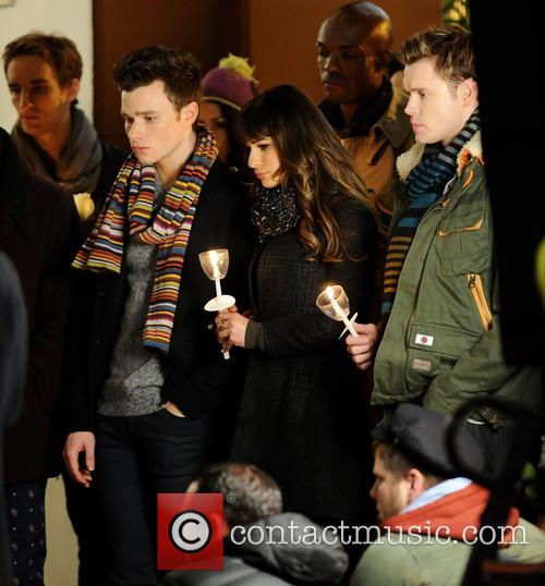 Lea Michele, Chord Overstreet and Chris Colfer 3