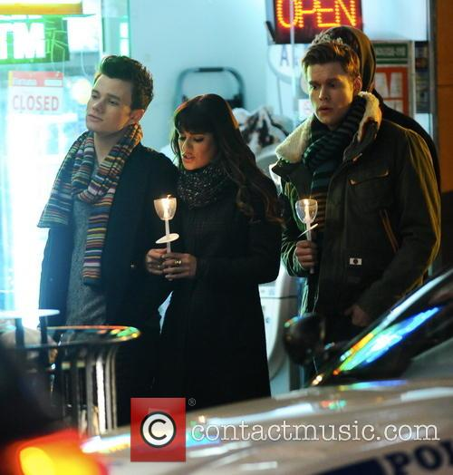 Lea Michele, Chord Overstreet and Chris Colfer 10