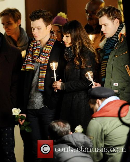 Lea Michele, Chord Overstreet and Chris Colfer 1