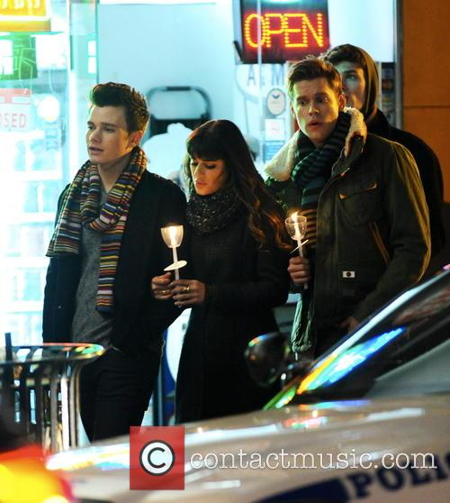 Lea Michele, Chord Overstreet and Chris Colfer 4