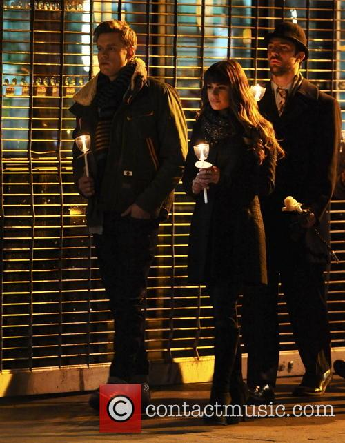 Lea Michele and Chord Overstreet 7
