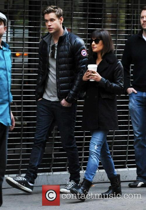 Lea Michele and Chord Overstreet 11
