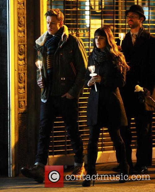 Lea Michele and Chord Overstreet 5