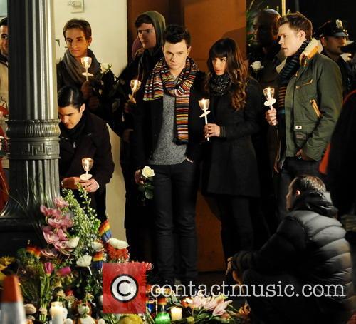 Lea Michele, Chris Colfer, Chord Overstreet, Darren Criss