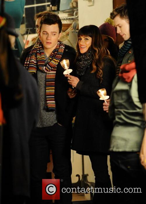 Lea Michele, Chris Colfer and Chord Overstreet 5