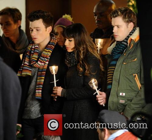 Lea Michele, Chris Colfer and Chord Overstreet 9