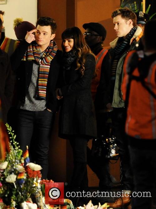 Lea Michele, Chris Colfer and Chord Overstreet 6