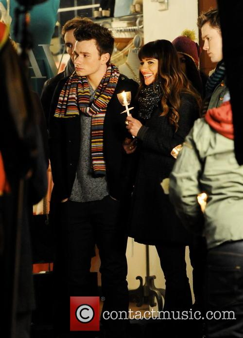 Lea Michele, Chris Colfer and Chord Overstreet 7