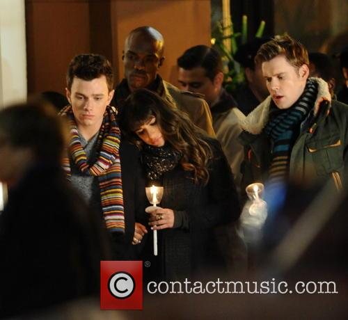 Lea Michele, Chris Colfer and Chord Overstreet 1