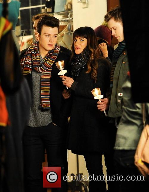Lea Michele, Chris Colfer and Chord Overstreet 10