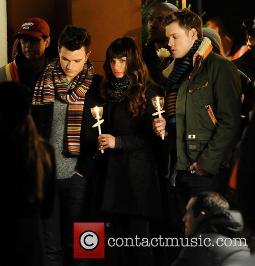 Lea Michele, Chris Colfer and Chord Overstreet 11