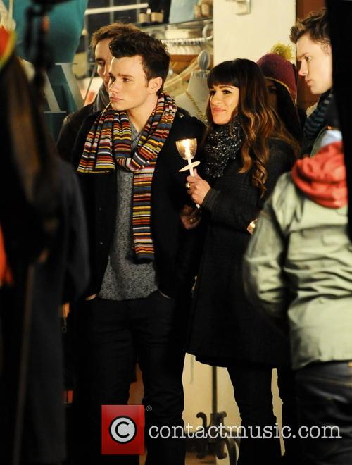Lea Michele, Chris Colfer and Chord Overstreet 12