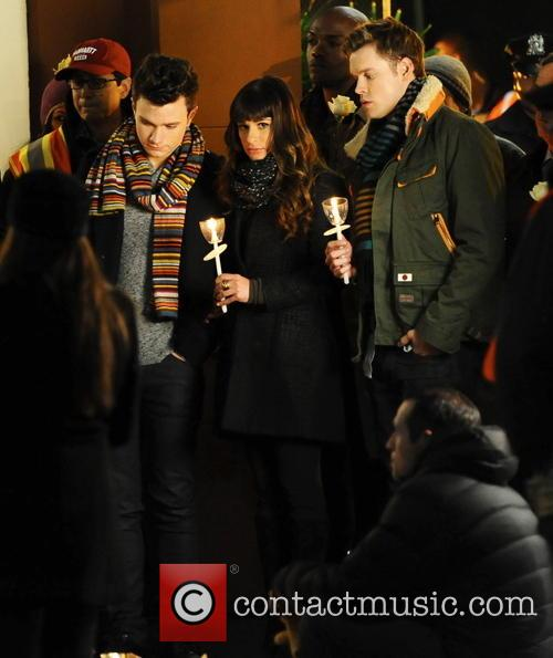 Lea Michele, Chris Colfer and Chord Overstreet 13
