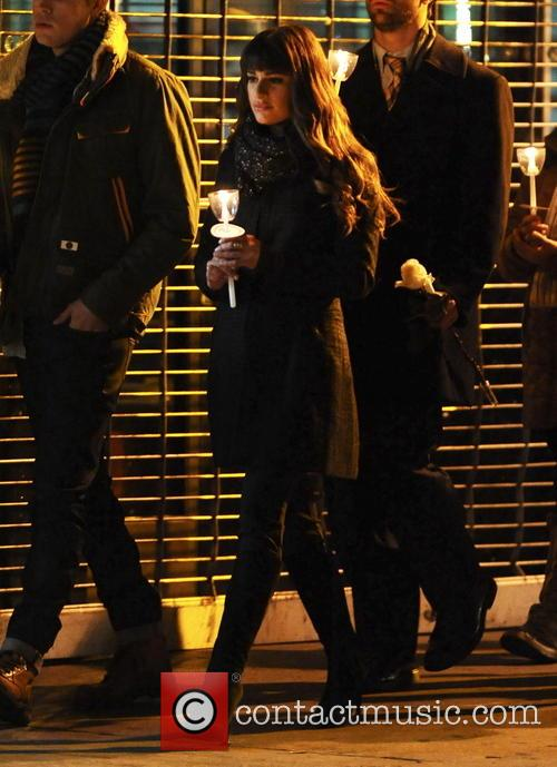The cast of Glee hold a candlelight vigil for their good friend and co-star Cory Monteith