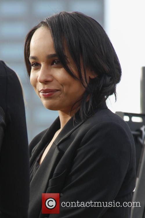 Zoe Kravitz at The Grove for 'Extra!'