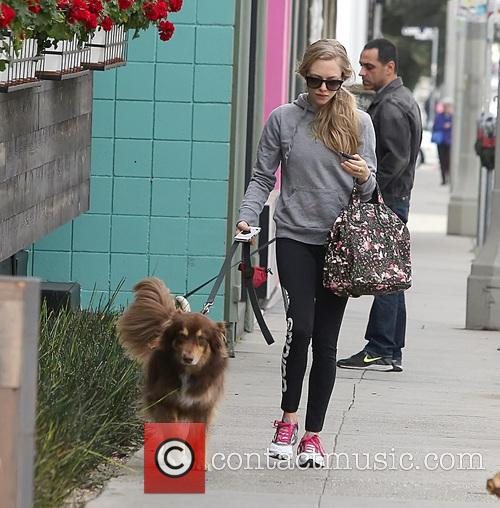 Amanda Seyfried and Finn 1