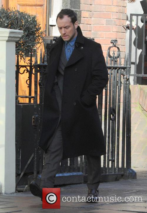 Jude Law filming in Central London