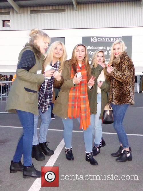 Fans waiting for Louis Tomlinson  at the...