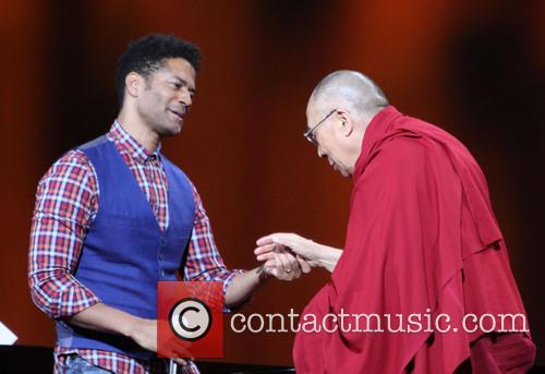 Eric Benet and His Holiness The 14th Dalai Lama 1