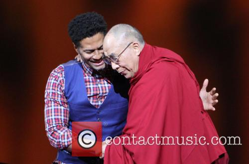Eric Benet and His Holiness The 14th Dalai Lama 5