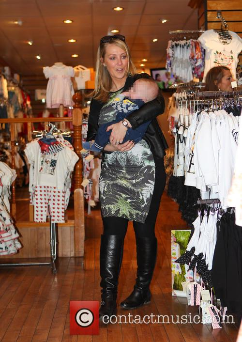 Sinitta and Laura Hamilton visit Childsplay clothing shop