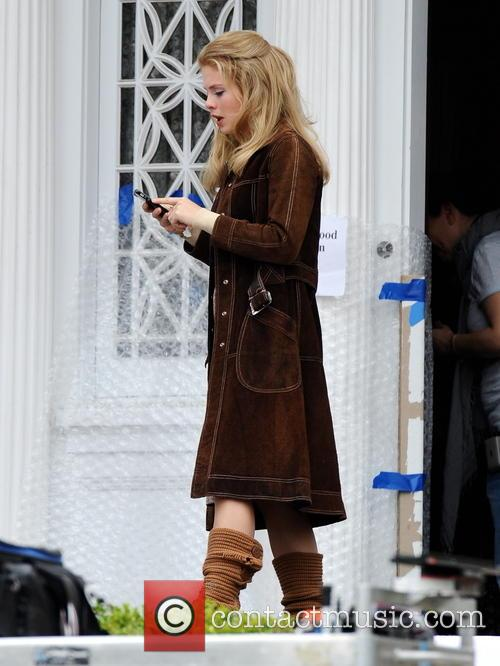 "Heather Graham filming ""Petals In The Wind"""