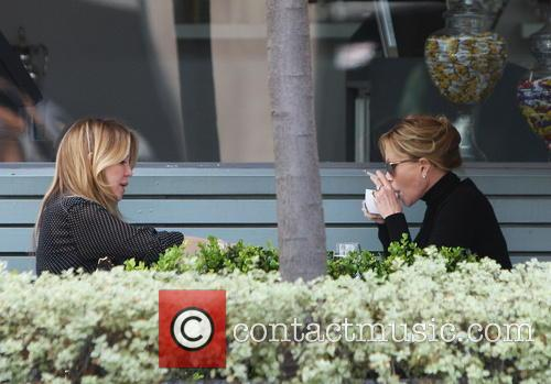 Melanie Griffith Smoking at Lunchtime