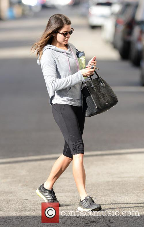 Nikki Reed finishes an hour workout