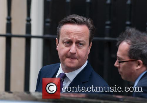 David Cameron at Downing Street