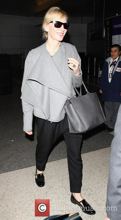 Cate Blanchett arriving at LAX