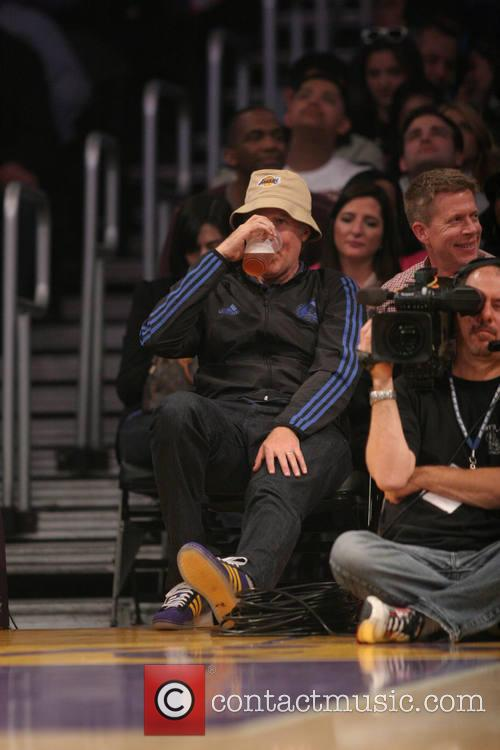 will ferrell celebs at the lakers game 4090642