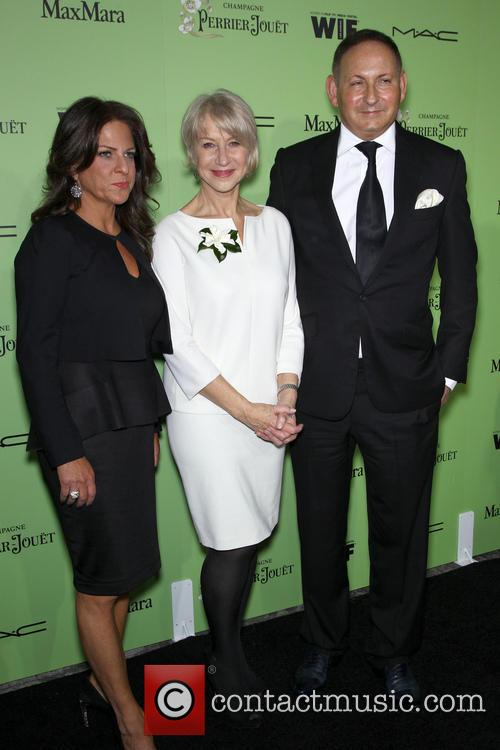 Women In Film President Cathy Schulman, Helen Mirren and John Demsey 8