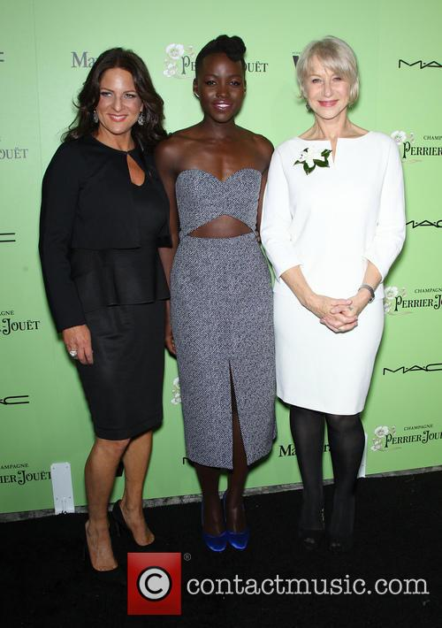 Women In Film President Cathy Schulman, Lupita Nyong'o and Helen Mirren 2