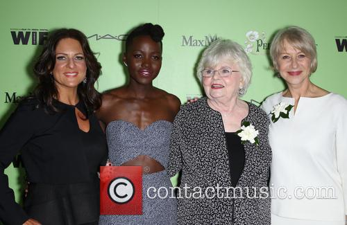 Women In Film President Cathy Schulman, Lupita Nyong'o, Julie Delpy and Helen Mirren 3