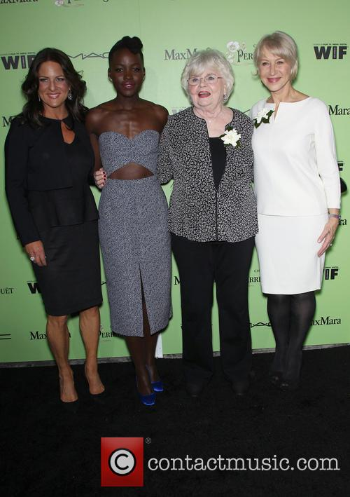 Women In Film President Cathy Schulman, Lupita Nyong'o, Julie Delpy and Helen Mirren 4
