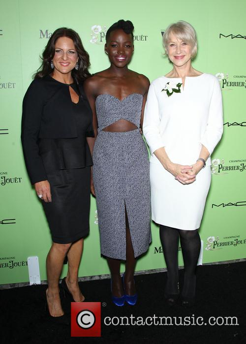 Women In Film President Cathy Schulman, Lupita Nyong'o and Helen Mirren 5