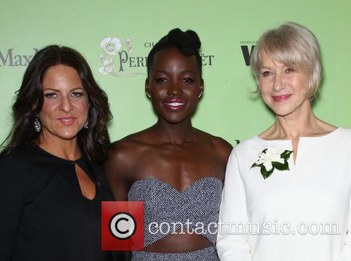 Women In Film President Cathy Schulman, Lupita Nyong'o and Helen Mirren 6