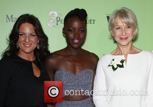 Women In Film President Cathy Schulman, Lupita Nyong'o and Helen Mirren 7