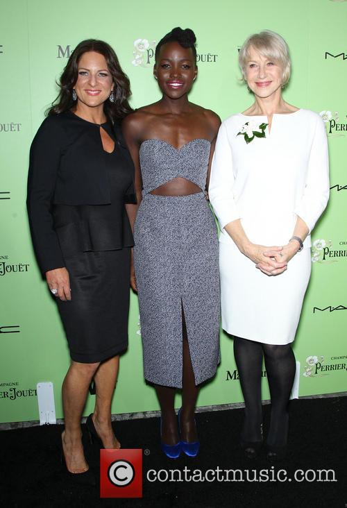 WOMEN IN FILM President Cathy Schulman, Lupita Nyong'o, Helen Mirren, Fig & Olive Melrose Place