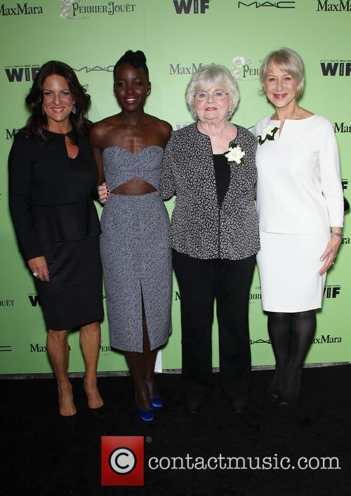 Women In Film President Cathy Schulman, Lupita Nyong'o, Julie Delpy and Helen Mirren 10