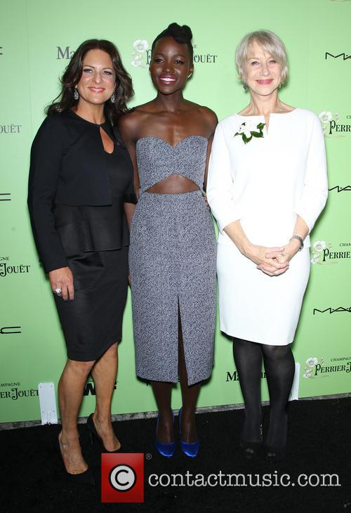 Women In Film President Cathy Schulman, Lupita Nyong'o and Helen Mirren 11