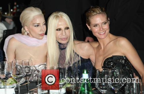 Lady Gaga, Donatella Versace and Heidi Klum 5