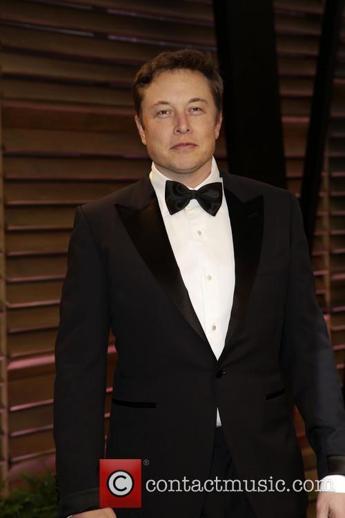 Elon Musk at the 2014 Vanity Fair Oscars party