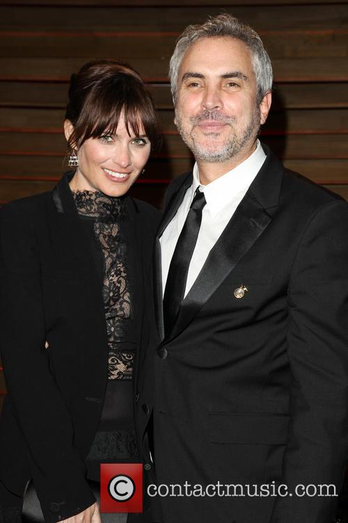 Sheherazade Goldsmith and Alfonso Cuaron 2