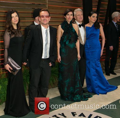 Bono, Ali Hewson, Choreographer Morleigh Steinberg, And Model Mariana Teixeira De Carvalho, The Edge, Adam Clayton and Vanity Fair 1