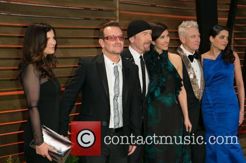 Bono, Ali Hewson, Choreographer Morleigh Steinberg, And Model Mariana Teixeira De Carvalho, The Edge, Adam Clayton and Vanity Fair 2