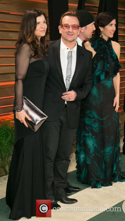 Bono, Ali Hewson, Choreographer Morleigh Steinberg, The Edge and Vanity Fair 3