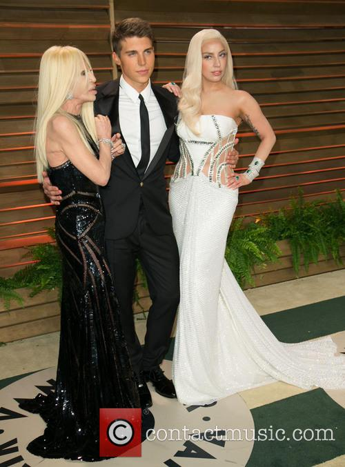 Donatella Versace, Nolan Gerard Funk and Lady Gaga 4