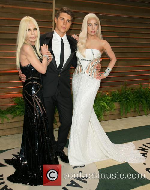 Donatella Versace, Nolan Gerard Funk and Lady Gaga 6