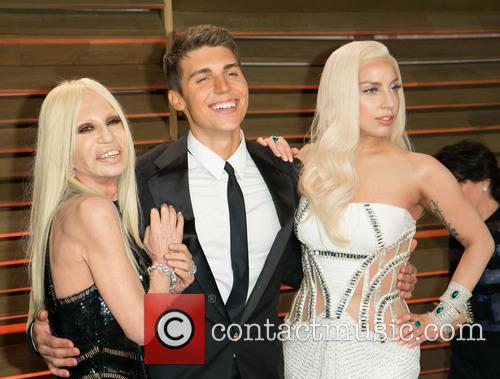 Donatella Versace, Nolan Gerard Funk and Lady Gaga 1